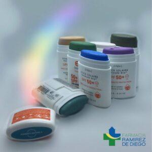 Protector solar con color